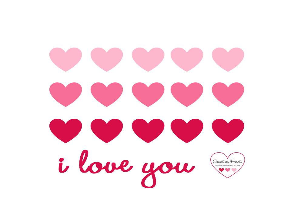 "FREE ""i love you"" Valentine Printable 