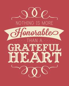 honorable grateful heart